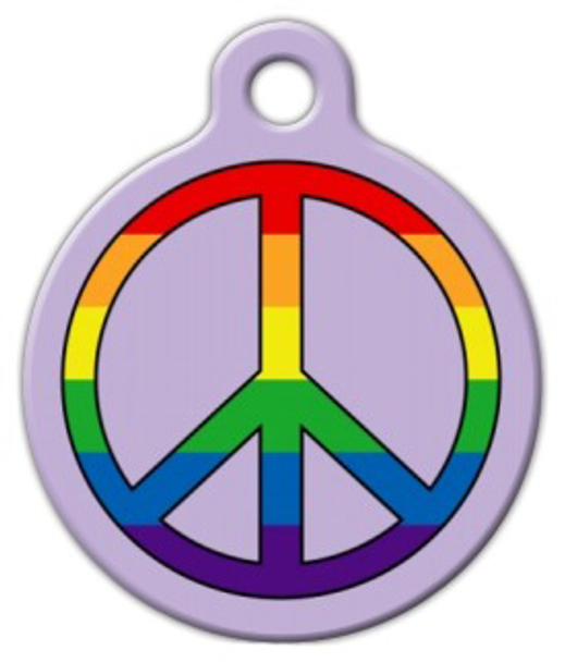 Dog Tag Art Rainbow Peace for Pets Pet ID Dog Tag