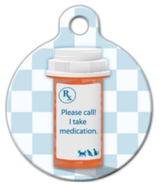 Dog Tag Art I Take Medication Pet ID Dog Tag