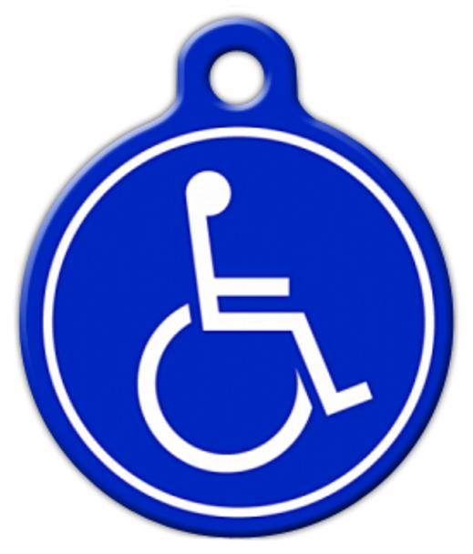 Dog Tag Art Handicapped Symbol Pet ID Dog Tag