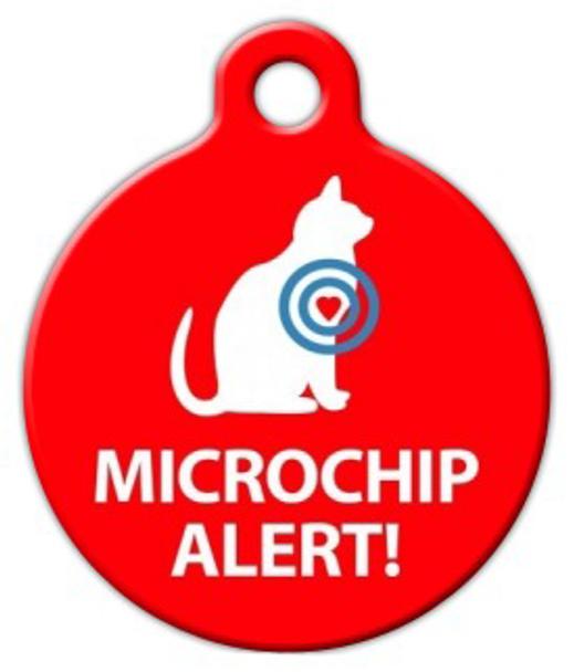 Dog Tag Art Microchip Alert Cat Pet ID Dog Tag