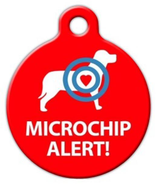 Dog Tag Art Microchip Alert Dog Pet ID Dog Tag