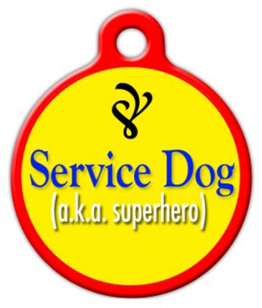 Dog Tag Art Service Dog Pet ID Dog Tag