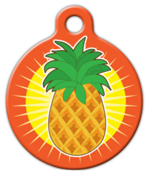 Dog Tag Art Pineapple Sun Pet ID Dog Tag