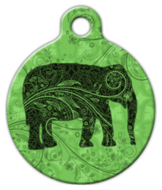 Dog Tag Art Indian Elephant Pet ID Dog Tag