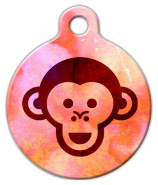 Dog Tag Art Monkey Face Pet ID Dog Tag