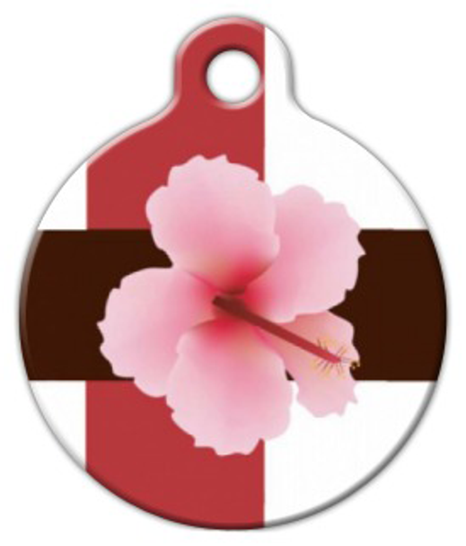 Dog Tag Art Hibiscus Pet ID Dog Tag