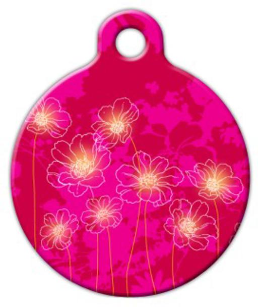 Dog Tag Art Pink Garden Pet ID Dog Tag