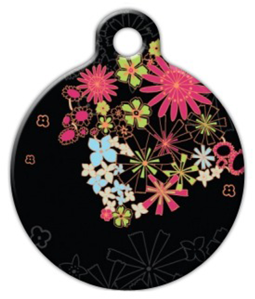 Dog Tag Art Midnight Garden Pet ID Dog Tag