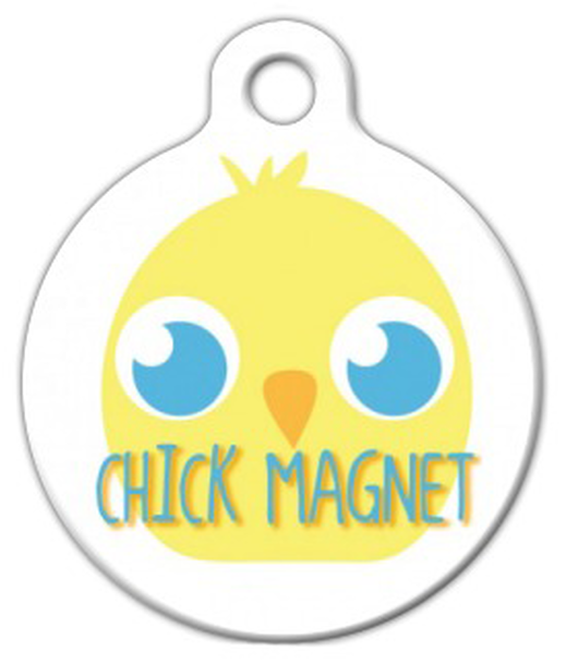 Dog Tag Art Chick Magnet Pet ID Dog Tag