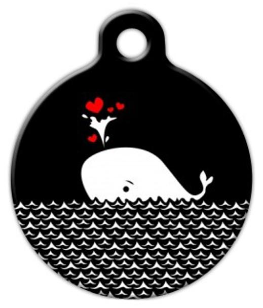 Dog Tag Art Heart Whale Pet ID Dog Tag
