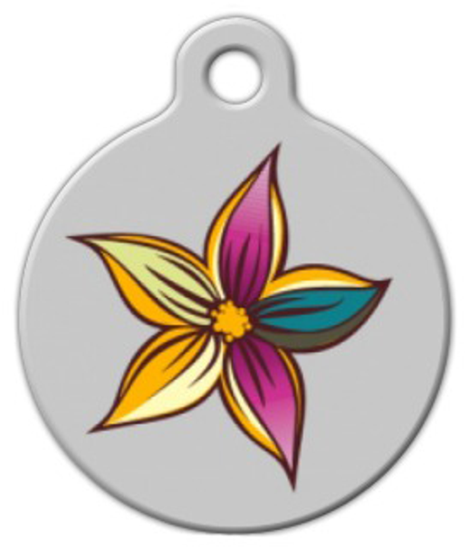 Dog Tag Art Simple Bloom Pet ID Dog Tag