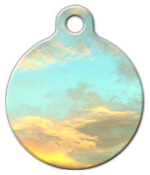 Dog Tag Art Dreamy Clouds Pet ID Dog Tag