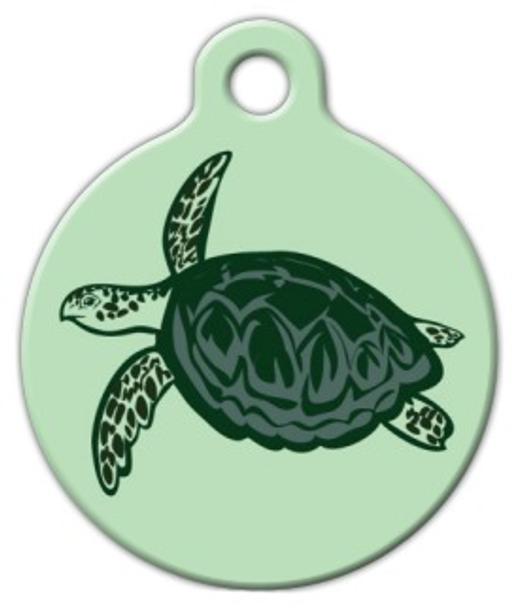 Dog Tag Art Sea Turtle Print Pet ID Dog Tag
