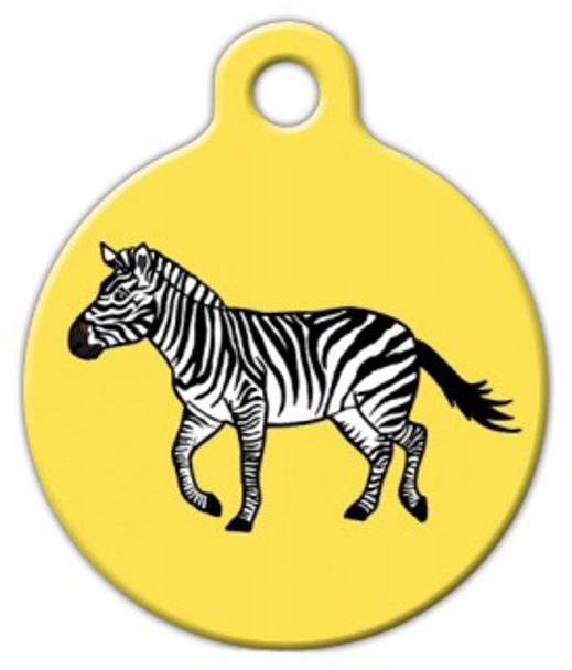 Dog Tag Art Zebra on the Move Pet ID Dog Tag