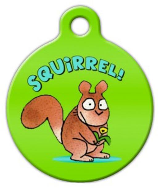 Dog Tag Art Squirrel Pet ID Dog Tag