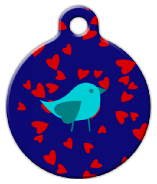 Dog Tag Art Lovely Blue Bird Pet ID Dog Tag