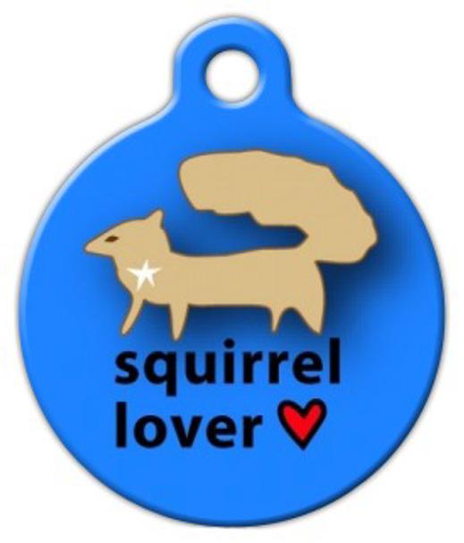 Dog Tag Art Squirrel Lover Pet ID Dog Tag
