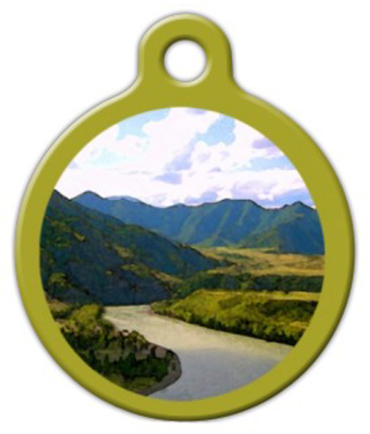 Dog Tag Art River Landscape Pet ID Dog Tag