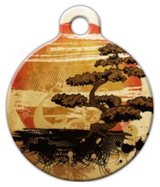 Dog Tag Art Bonzai Sunset Pet ID Dog Tag
