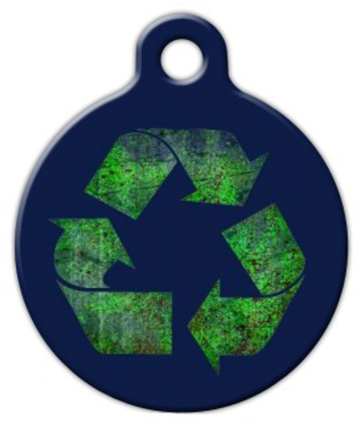 Dog Tag Art Recycle Symbol Pet ID Dog Tag