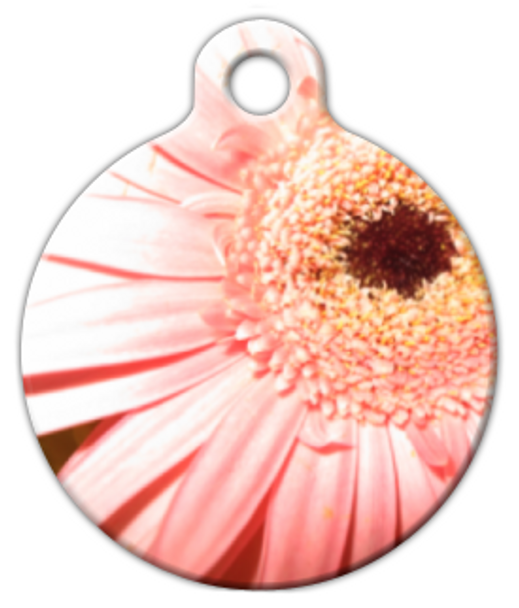 Dog Tag Art Pink Daisy Pet ID Dog Tag