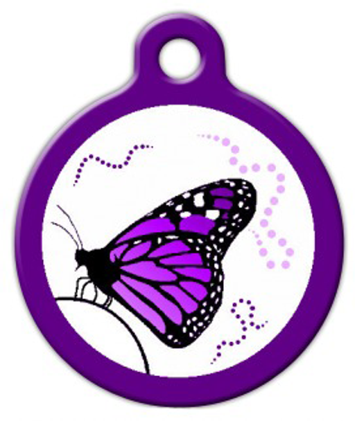 Dog Tag Art Dance of the Monarch Pet ID Dog Tag