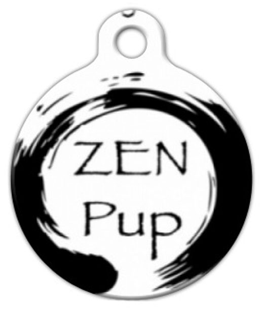 Dog Tag Art Zen Pup Pet ID Dog Tag