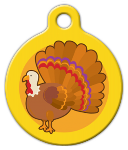 Dog Tag Art Yellow Turkey Cutie Pet ID Dog Tag