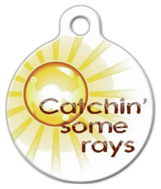 Dog Tag Art Catch Some Rays Pet ID Dog Tag