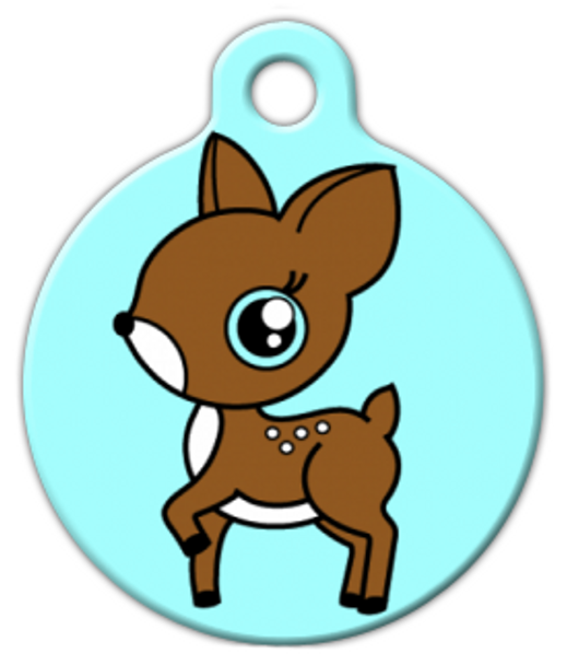 Dog Tag Art Little Fawn Custom Pet ID Dog Tag