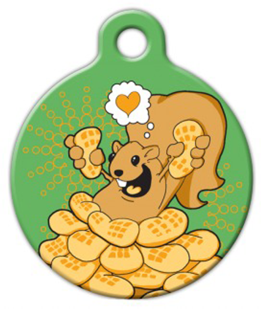 Dog Tag Art Love the Squirrel! Pet ID Dog Tag