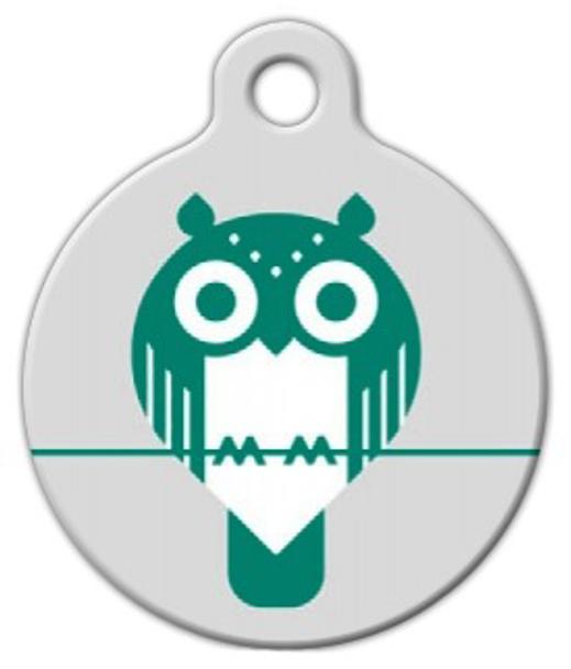 Dog Tag Art Owlet Pet ID Dog Tag