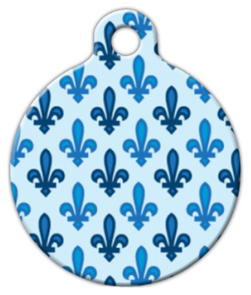 Dog Tag Art Fleur de Lis Pattern Pet ID Dog Tag