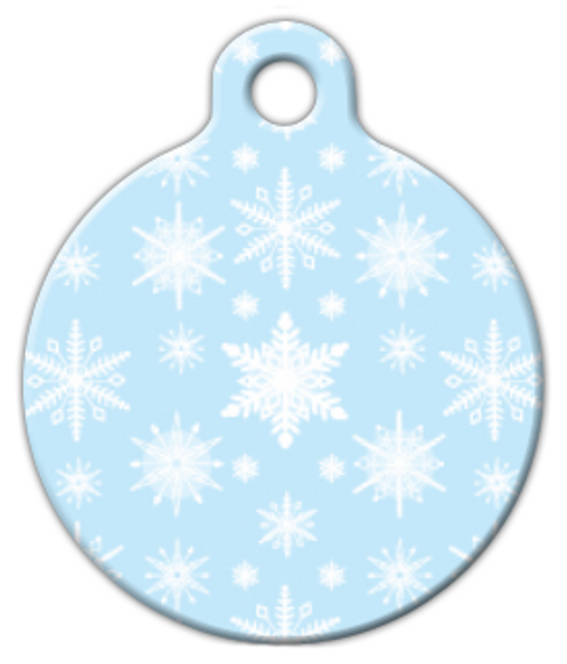 Dog Tag Art Soft Snowflakes Pet ID Dog Tag