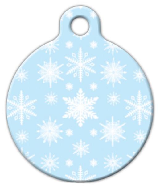 Dog Tag Art Soft Snowflakes Pet ID Dog Tag