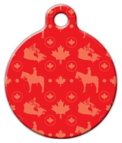 Dog Tag Art Oh Canada! Patriotic Pattern Pet ID Dog Tag
