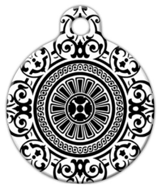 Dog Tag Art Victorian Circle Pattern Pet ID Dog Tag