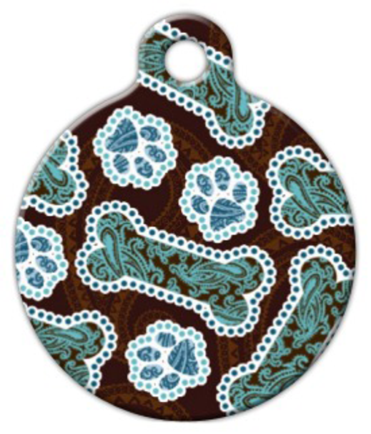 Dog Tag Art Java Paisley Pet ID Dog Tag
