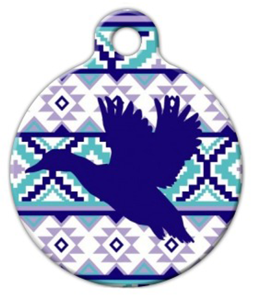 Dog Tag Art Boho Pattern Duck Pet ID Dog Tag
