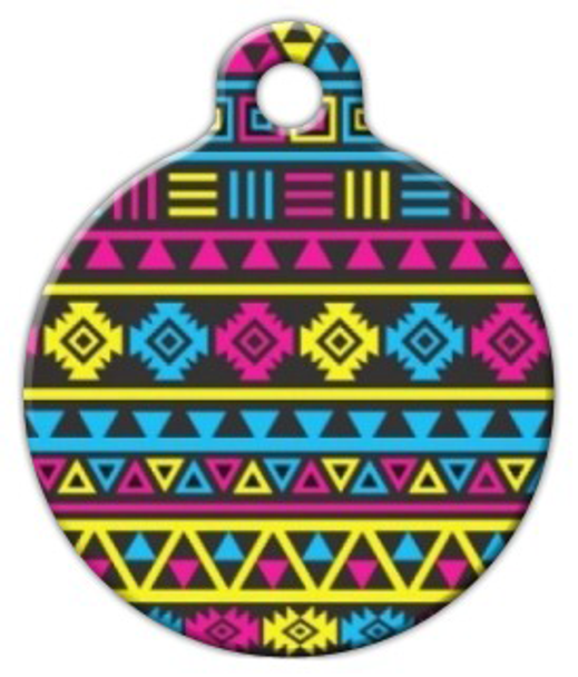 Dog Tag Art CMYK Aztec Pattern Pet ID Dog Tag