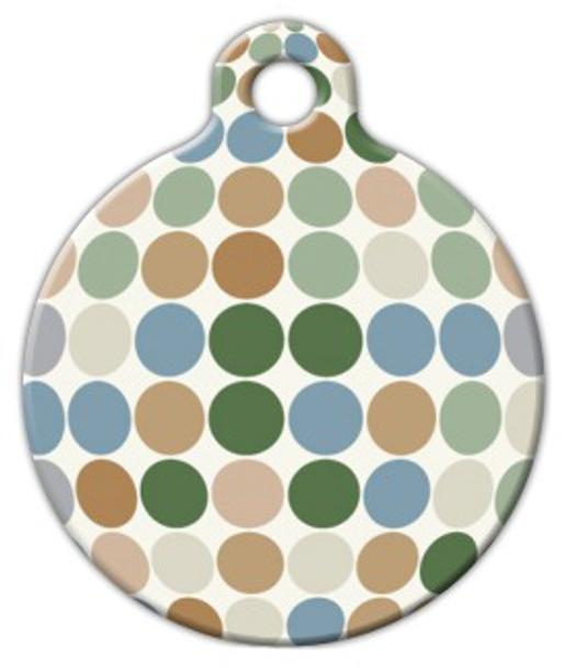 Dog Tag Art Pastel Dots Pet ID Dog Tag