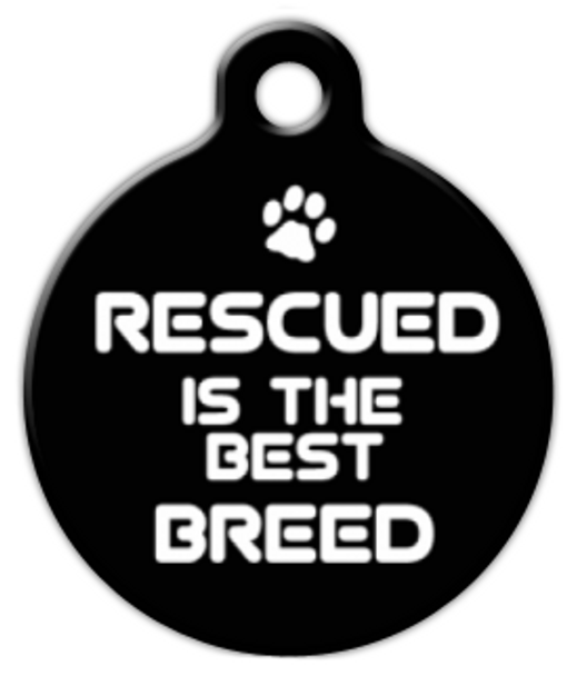 Dog Tag Art Rescued is the BEST Breed Pet ID Dog Tag