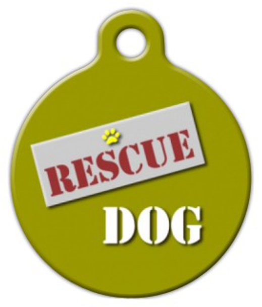 Dog Tag Art Rescue Dog Pet ID Dog Tag