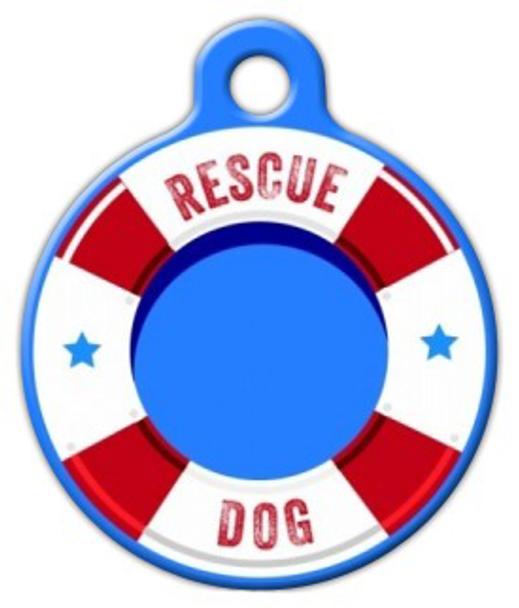 Dog Tag Art Life Preserver Rescue Dog Pet ID Dog Tag
