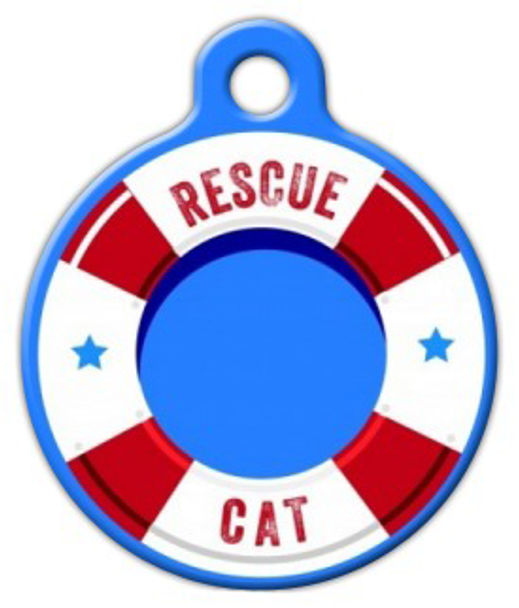 Dog Tag Art Life Preserver Rescue Cat Pet ID Dog Tag