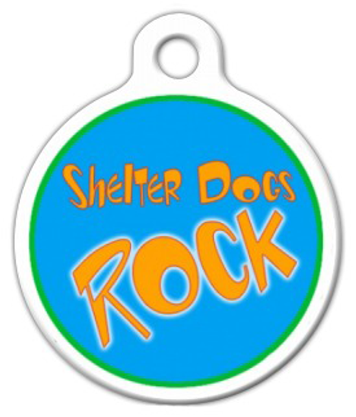 Dog Tag Art Shelter Dogs Rock Pet ID Dog Tag