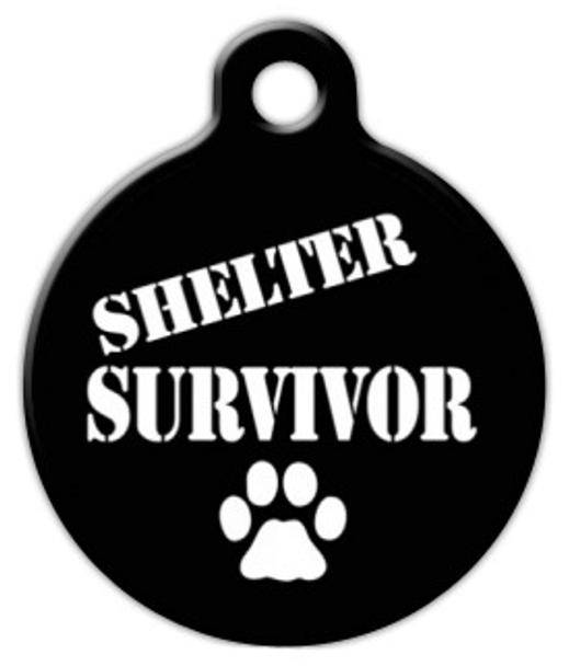 Dog Tag Art Shelter Survivor Pet ID Dog Tag