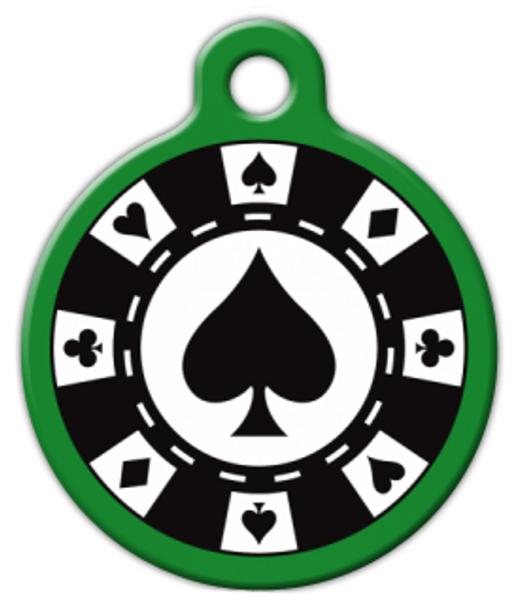 Dog Tag Art Poker Chip Pet ID Dog Tag
