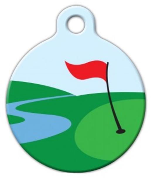 Dog Tag Art Golf Green Pet ID Dog Tag