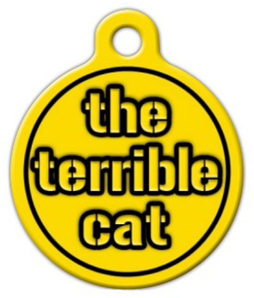 Dog Tag Art Steelers Terrible Cat Pet ID Dog Tag